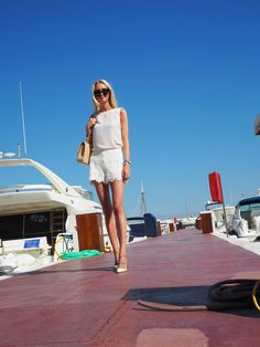 ALL WHITE IN PUERTO BANUS - Metti Forssell