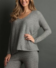 Another great find on Graphite V-Neck Sweater Graphite, That Look, Boards, V Neck, Pullover, Sewing, Sweaters, Stuff To Buy, Fashion