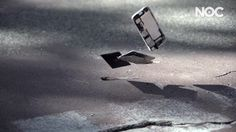 Iman Shumpert of the New York Knicks, shatters a new iPhone 5 in an attempt to see how it performs as a basketball.