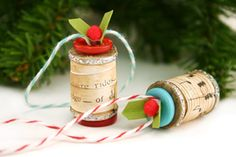 vintage spool ornaments