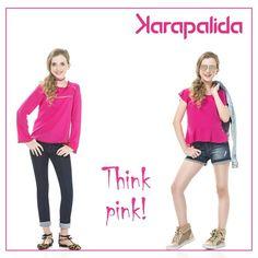 Começando a semana com uma vibe positiva, muita cor e looks comfy! #karapalida #inverno2016 #kids #pink