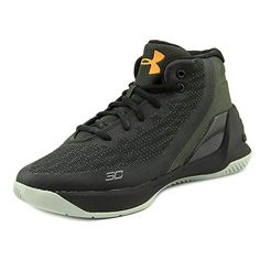 ba6130ac0bed Under Armour Ps Curry 3 Youth Round Toe Canvas Black Basketball Shoe.