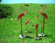 Mother and Baby Flamingo Bird by dadelight on Etsy