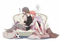 #anime #boy #inazumaelevengo #rantaku #takuran #yaoi #boy #rabbit #playboy #kiss #soccer