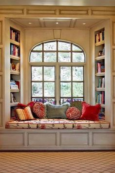 88 Reading Nook Window Arch http://fuerzainternational.blogspot.com.au/2014/03/inspired-places-to-read-part-5-of-6.html