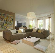 Zdjęcie projektu Heliodor - murowana – beton komórkowy KRD2303 Micro House, Planer, House Plans, Couch, Furniture, Ghana, Houses, Exterior, Floor