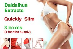 (3 Boxes) Free shipping Chinese old version slimming product weight loss Daidaihua extracts for 3 months supply