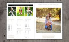 The only photography studio magazine template you need is here! part of Daily Designables unlimited downloads... what?! #photographypricing