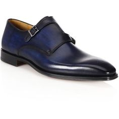 Saks Fifth Avenue COLLECTION BY MAGNANNI Double Monk S-Strap Dress Shoes