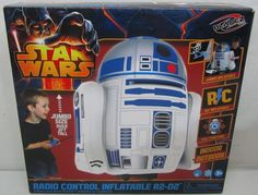 Star Wars Radio Control Inflatable R2-D2 Indoor Outdoor Over 2 Ft Tall