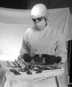 Scrub Nurse prepping for surgery (awesome people who help Mallory & Lawson in the OR)