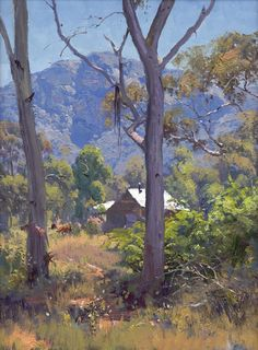 Warwick Fuller Landscape Print - The Valley Floor Captertee Valley - 2018 2018 Naturalistic Landscape Prints, Abstract Landscape, Landscape Paintings, Landscape Rocks, Landscape Fabric, Landscape Edging, Landscape Pictures, Australian Painting, Australian Artists