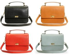 Can't pick a favorite color.  It's from JCrew but it looks a lot like the bag my dad gave my mom the first Christmas they were married (1959).