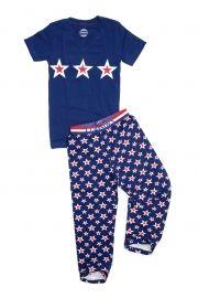 Claesen's Set, pyjamabroek en v-hals t-shirt. Ondergoed voor jongens www.koflo.nl