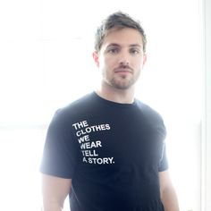 Good & Fair crew neck story tee with white font!