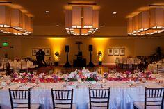 Amber Uplighting at the Estancia La Jolla Hotel Wedding Reception