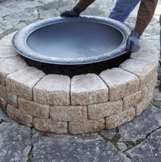 DIY outdoor firepit. If only I knew where to put it