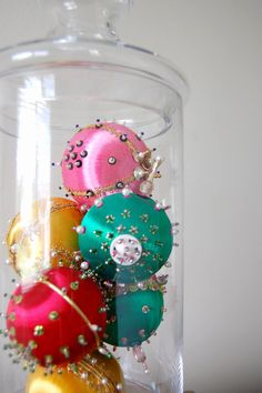 mixed lot of handmade vintage Christmas ornaments by shopgoodgrace, $24.00