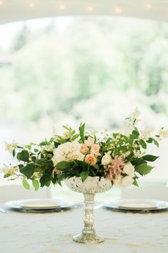 Garden Themed Outdoor Wedding at Chetola Resort in Blowing Rock, NC Floral design by Desis Floral and Design: www.flowersbydesi.com  Romantic garden party wedding flowers for wedding in Blowing Rock and Boone NC | Beautifully captured by Wayfaring Wanderer, a favorite among photographers in the mountains of North Carolina | ranunculus | roses | astilbe | locally grown flowers from www.desisfarm.com | bouquet of garden flowers | peach and mint wedding color |