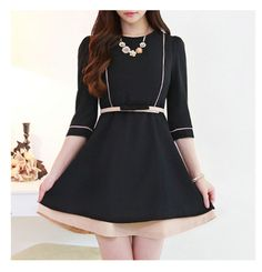 NEW! Korean Fashionable Trendy Dress www.knock-us-knoc... New Arrivals Excellent cutting.