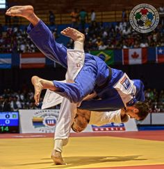 Liparteliani blasts through his first contest! Incredible from the Georgian!  © IJF Media Team - Jack Willingham