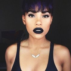 25 Beauties Who Will Inspire You to Rock a Dark Lip All Fall Long