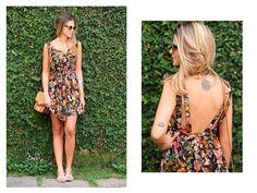 Anna Fasano investe no floral Moikana. #darkfloral #ootd #summerdresses