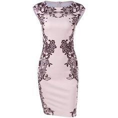 67c05f8b15f2 Now  15 - Shop this and similar day dresses - Cap Sleeve Floral Sheath Dress  Pencil