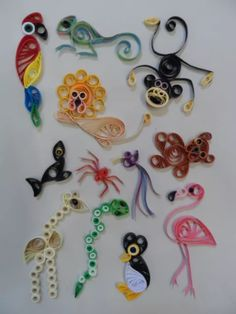 This quilling pack is brilliant for animal lovers and contains everything needed to make a variety of animals found at the zoo. Kit contents: complete instructions and pattern sheet, 2 bundles of quilling paper, quilling tool, adhesive and mount card Paper Quilling For Beginners, Paper Quilling Tutorial, Paper Quilling Patterns, Quilled Paper Art, Quilling Paper Craft, Quilling Techniques, Origami Paper, Paper Crafts, Zoo Crafts