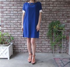 Solid 6 color chiffon dress with attached slips by eloges on Etsy, $29.00