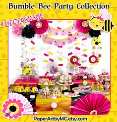 Printable Bumble Bee Party