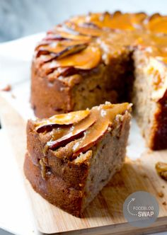 DoorEten : Foodblogswap   Kruidige appelcake met karamelsaus - met OER-fruit