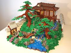 Excellent.  Lego (R) scenes.  Japanese garden and home