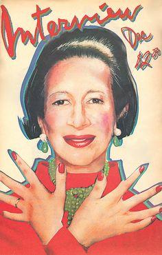 Interview magazine December 1980/Cover illustration by Richard Bernstein