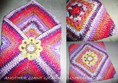 The 8th Gem: easy and beautiful crochet pillow cover idea