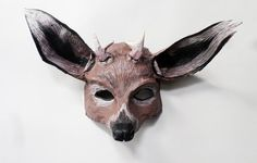 Deer Mask, Woodland creature, doe, antlers, animal mask, forest creature, paper…