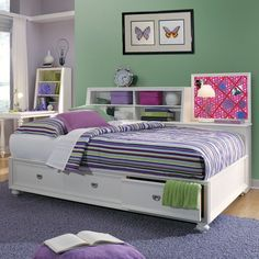 Cool Daybeds For Girls With Trundle And There Are Bookcase