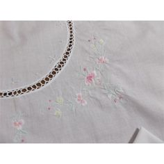 Embroidered Card Table Cloth Cover Flowers Tatting Napkins