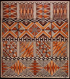 Siapo Barkcloth Image with different types of design. Design Textile, Textile Prints, Textile Art, Fabric Design, Ethnic Patterns, Textile Patterns, Print Patterns, African Textiles, African Fabric