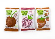 """Stretch Island Fruit Company has an extensive line of fruit snacks. This is a brand refresh and packaging overhaul that bore """"fruit"""".  http://lovelypackage.com/stretch-island-fruit-company/#more-32456"""