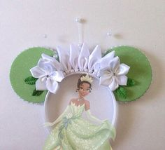 Tiana inspired ears headband by seamcometrue on Etsy