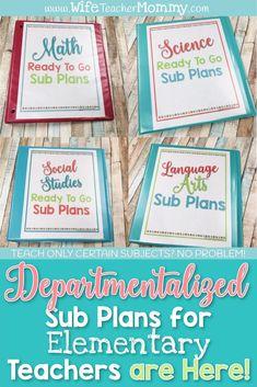 Sub plans for elemen