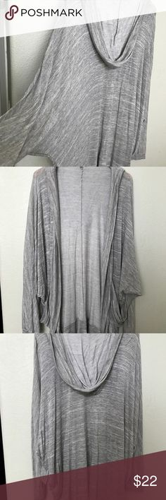 Urban Outfitters Dolman hooded Cardigan Lightweight hooded drapy oversized dolman sleeve gray Cardigan from UO in size medium.  Never worn! Urban Outfitters Sweaters Cardigans