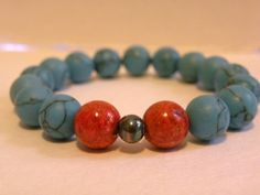 Indian Summer    Kingman Turquoise And Red by ScorpionMoonDesigns, $57.00