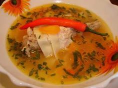 Ciorba de curcan Romanian Food, Romanian Recipes, Food Obsession, Thai Red Curry, Bacon, Food And Drink, Lunch, Dinner, Cooking