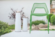 Blu Dot Hot Mesh Chair and Menu Lighthouse Oil Lamps