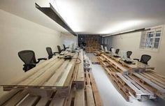 Office- Workspace with pallets