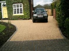 listed building with stabilised gravel drive