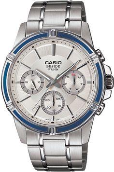 Casio'nun Beside serisinden çok güzel bir kol saati gerçekten. Breitling, Casio, Michael Kors Watch, Chronograph, Omega Watch, Watches, Silver, Accessories, Top