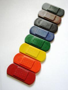 bandage crayons